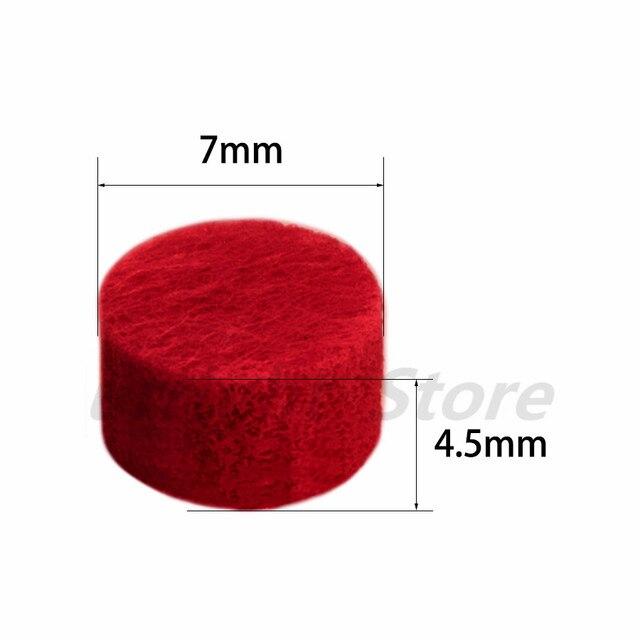 30 unids/lote 7mm almohadillas de fieltro de aromaterapia coloridas accesorios de joyería para difusor de aceite esencial botella de almacenamiento de Perfume al por mayor