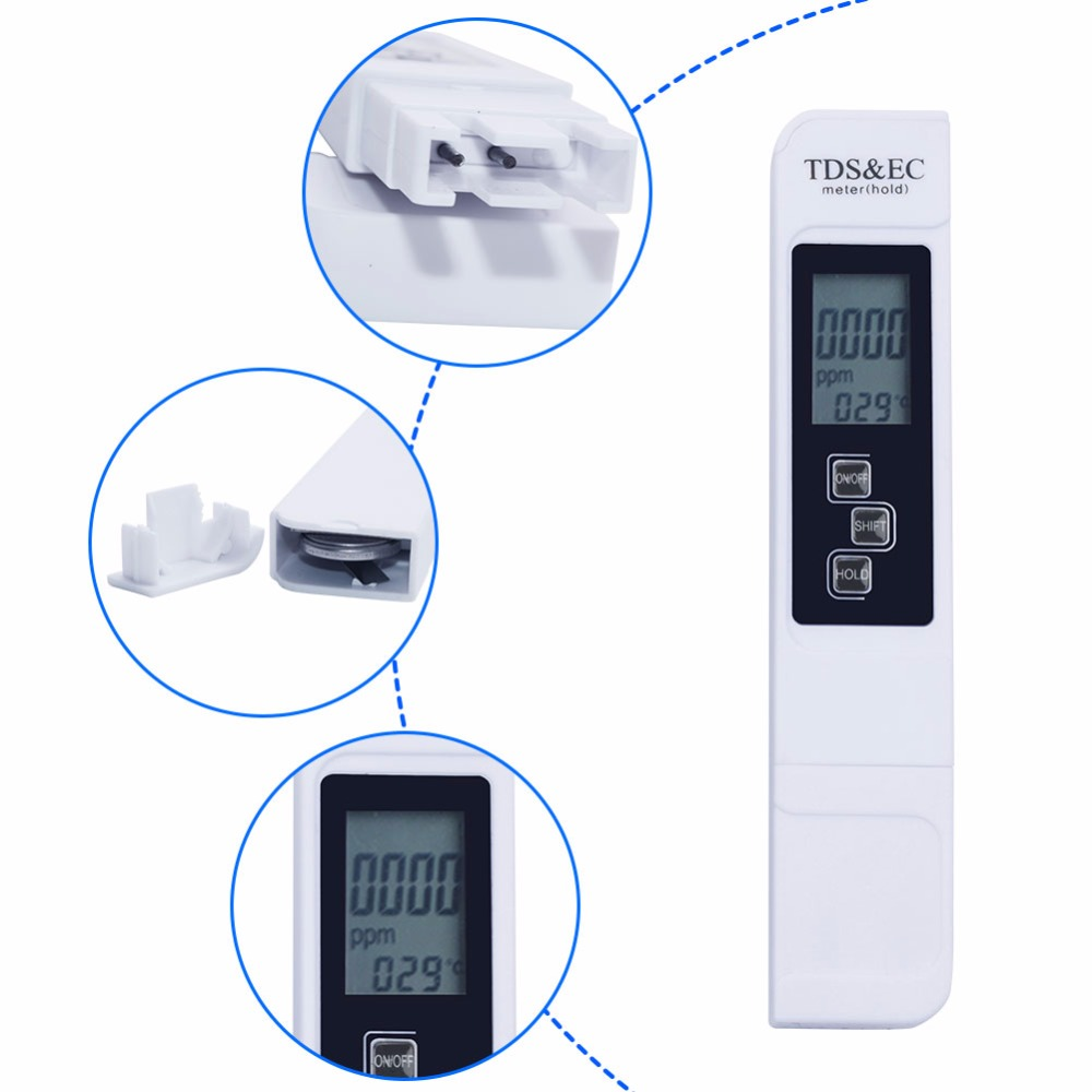 50pcs 3 IN 1 Digital TDS Meter&Temperature&Electrical Conductivity EC Meter-in PH Meters from Tools    3