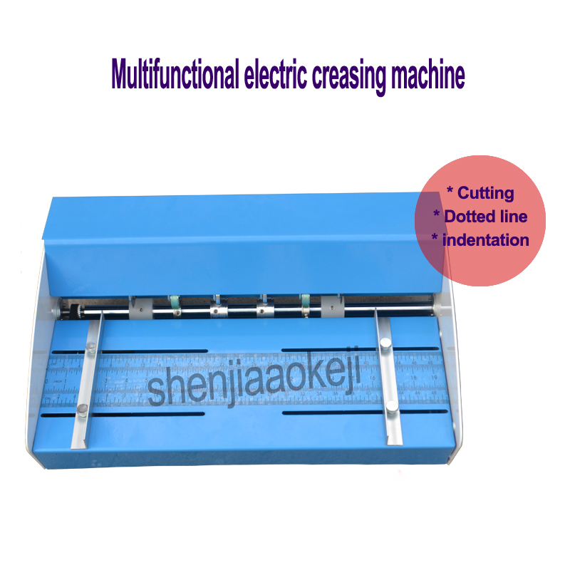 460mm Electric folding machine A3 paper creaser Scorer and perforator paper Cutter perforating machine paper creasing