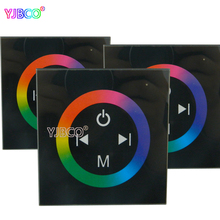 led dimmer DC12-24V Wall Type touch panel RGB Touch Panel Controller for LED 3528 5050 strip lights