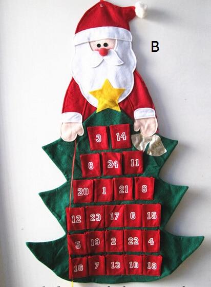 comprar cuenta atrs a navidad tela del rbol de navidad adviento calendario w adornos de fabric hammock fiable proveedores en ihome