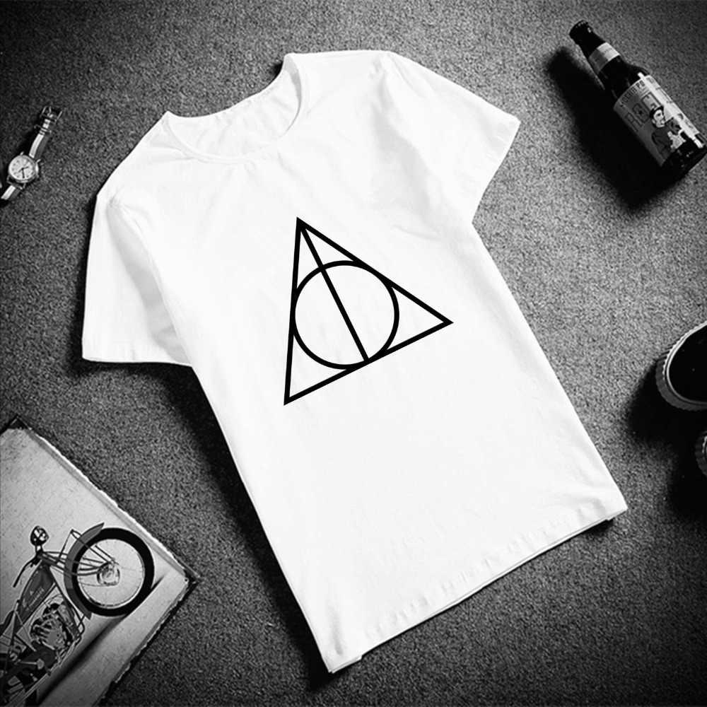 532de1261 ... Womens T Shirt Tops 100% Cotton Femme Tshirt Harry Harajuku Aesthetics  Potter Print White Tops ...