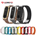 Colorful Double Color Silicone Replacement Wrist Strap Stainless Steel Metal Straps for Xiaomi Mi band 2