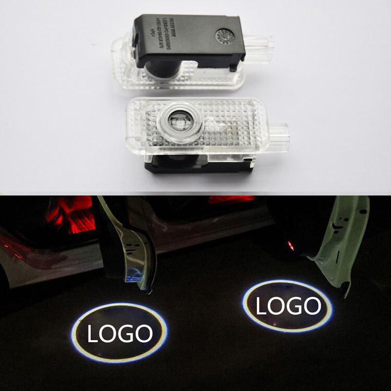 2PCS Car Door Welcome Led Shadow Light For Audi A4 A6 A8