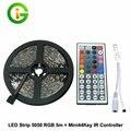 Tira CONDUZIDA RGB 3528 Conjuntos e Conjuntos de LED Strip 5050 RGB, DC12V 60LED/m 5 M/lote, Tira RGB + Controlador, free transporte!
