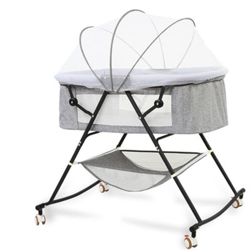 Crib Newborn Multi-function Comforting Baby Portable Baby Shaker Folding European Cradle Bed Sleeping