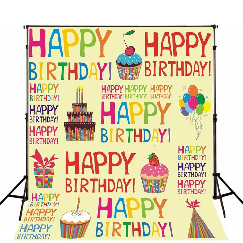 Children Birthdays Photographic Backgrounds Vinyl Photo Backdrops Toile De Fond Baby Party Background For Studio