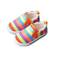 2015 свободного покроя детская обувь девочка малышей холст обувь без каблука мода детей кроссовки с полосками обувь для девочек туфли-loafers