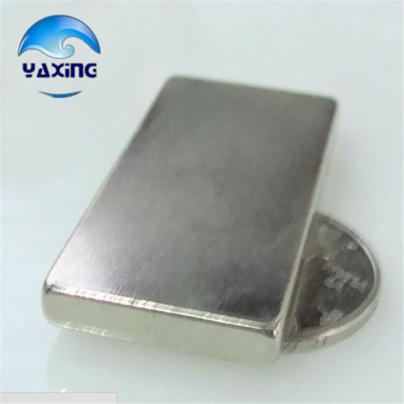 1pcs neodymium magnets50 x 25x 5mm Block Magnets Rare Earth Neodymium Permanent Magnet Rectangular 50mm x 25mm x 5mm Magnet 4 7 5mm neodymium nib magnet spheres with steel case silver 216 piece pack
