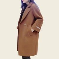 2018 Autumn Woolen Coat Outerwear Casaco Ladies Winter Hot Sale Women Coat Spring Blend Cashmere Alpaca Coats Female Overcoat