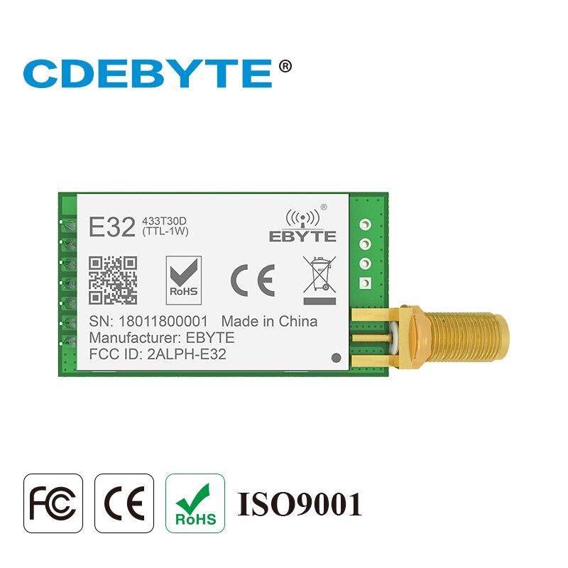 E32-433T30D Lora de largo alcance UART SX1278 433 Mhz 1 W antena SMA mucho uhf transceptor inalámbrico transmisor módulo receptor