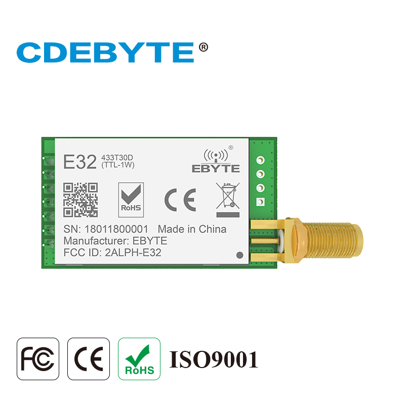 E32-433T30D Lora de largo alcance UART SX1278 433 mhz 1 W antena SMA IoT uhf módulo receptor transmisor inalámbrico