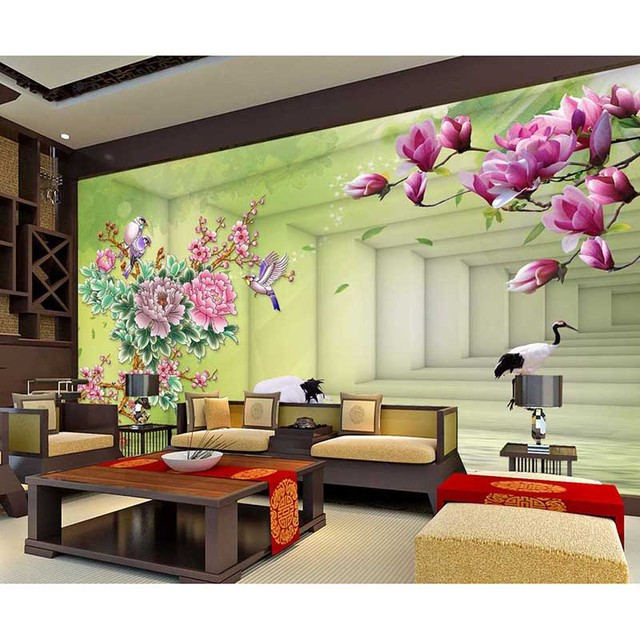 Home Decor Custom Photo Mural Wallpaper Garden Backdrop Painting Background Wall Paper For