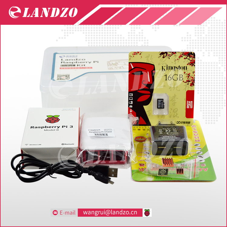 F Raspberry pi 3 1 16G SD card 1 Original shell 1 EU power plug 1