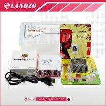 F Raspberry pi 3*1 + 16 Г SD card * 1 + Оригинальный оболочки * 1 + ЕС разъем питания * 1 + радиатор * 3 + чехол для raspberry pi 3 комплект * 1 бесплатная доставка