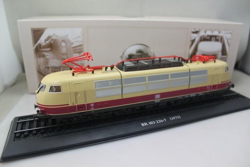 Vintage ATLAS 1/87 Hot Slot Train scale Tram Siemens BR 103 226 7 1973 Static Train Toy models AT019 Home Decoration