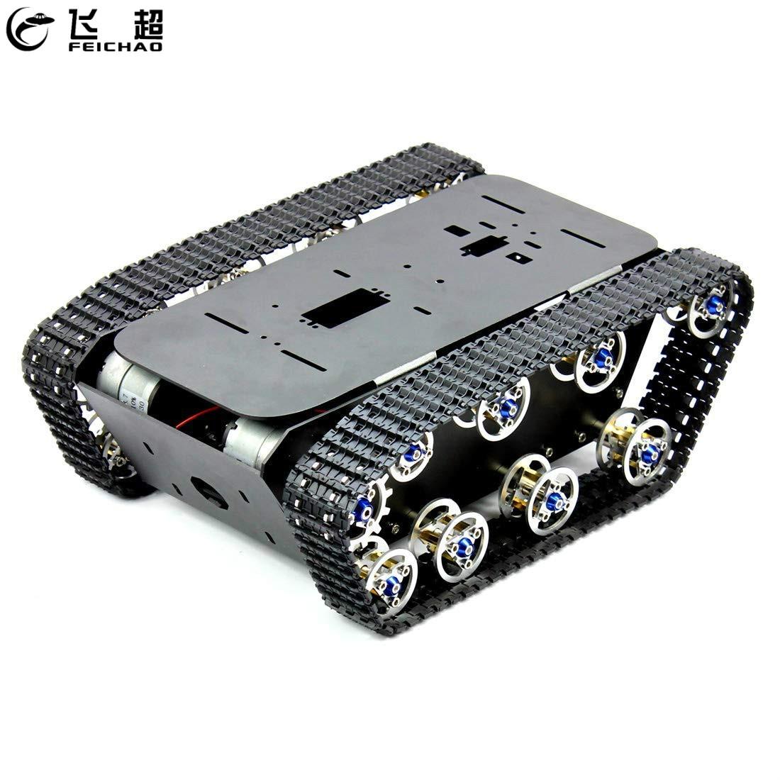 Smart Car Tank Robot Chassis Kit Aluminum Alloy Big Platform with Motors For DIY RC Robot Car Toys For Kids