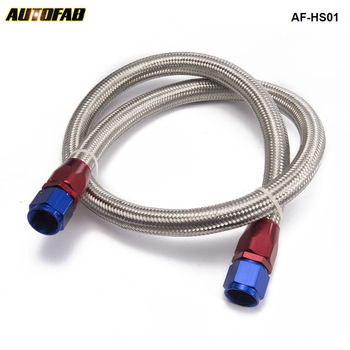 AUTOFAB - Universal Oil Feed Kit 1meter Stainless Steel Braided hose -AN10 fittings AF-HS01 fittings and braided hose