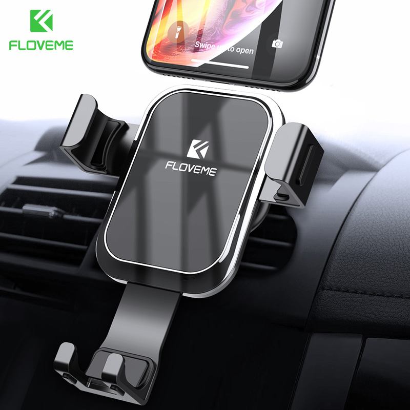 FLOVEME Gravity Auto Locked Car Phone Holder For iPhone X XR 7 8 Plus Vent Mount Car Phone Holder Stand Support For Phone In CarFLOVEME Gravity Auto Locked Car Phone Holder For iPhone X XR 7 8 Plus Vent Mount Car Phone Holder Stand Support For Phone In Car