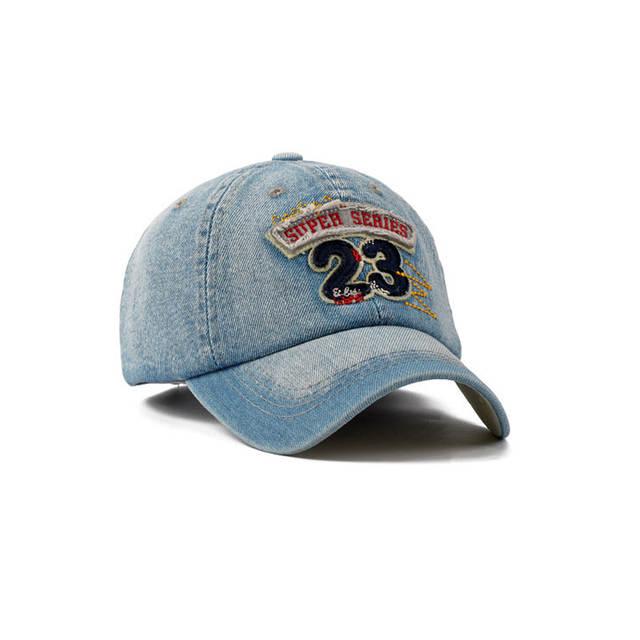 placeholder New Brand Men Baseball Caps Outdoor Casual Cap Denim Wash  Sports Hats Women Letter Patch Jean 94cd631867c