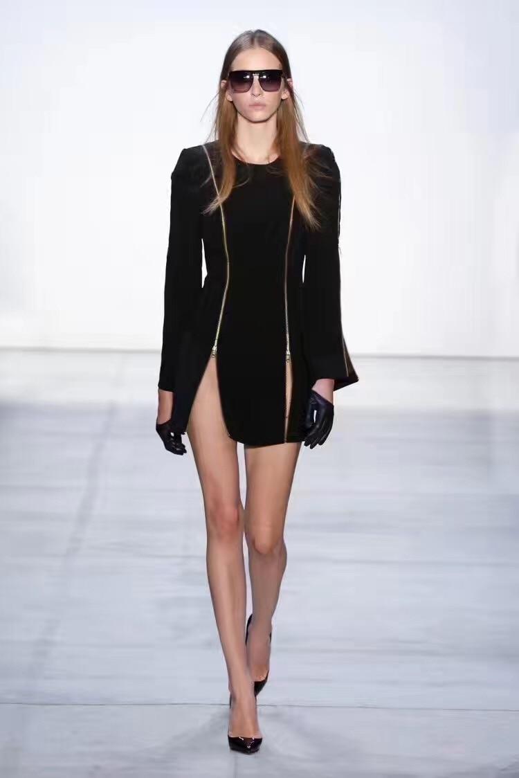 À Robes O Gros Fermetures Drop Femmes Mode Noir Manches De Glissière Celebrity Nouveau Longues Ship Soirée cou Bandage Robe Moulante zStx5Cwq