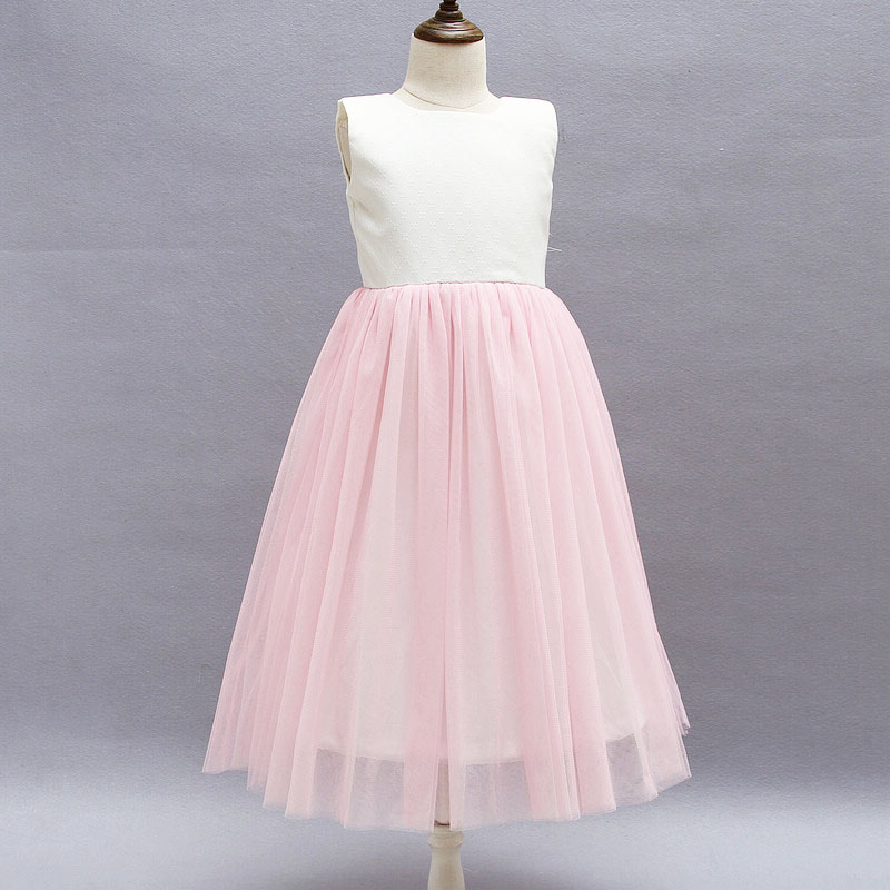 Embroidery Party Dresses Light Pink Princess Kids Girls Dresses Knee-lengh Wedding toddler girl dresses for 4-10 years готье м parfums mythiques эксклюзивная коллекция легендарных духов