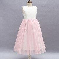 Thêu Đảng Dresses Hồng Nhạt Công Chúa Trẻ Em Gái Dresses Knee-lengh Cưới toddler girl dresses cho 4-10 năm