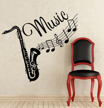 Наклейка на стену, наклейки на музыкальный инструмент,