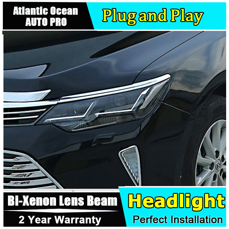 AUTO PRO For Toyota Camry led headlights car styling 2015 For Camry xenon headlights LED DRL light guide LED bifocal lens headli for toyota camry led headlights car styling 2015 for camry xenon headlights led drl light guide bifocal lens headlight light