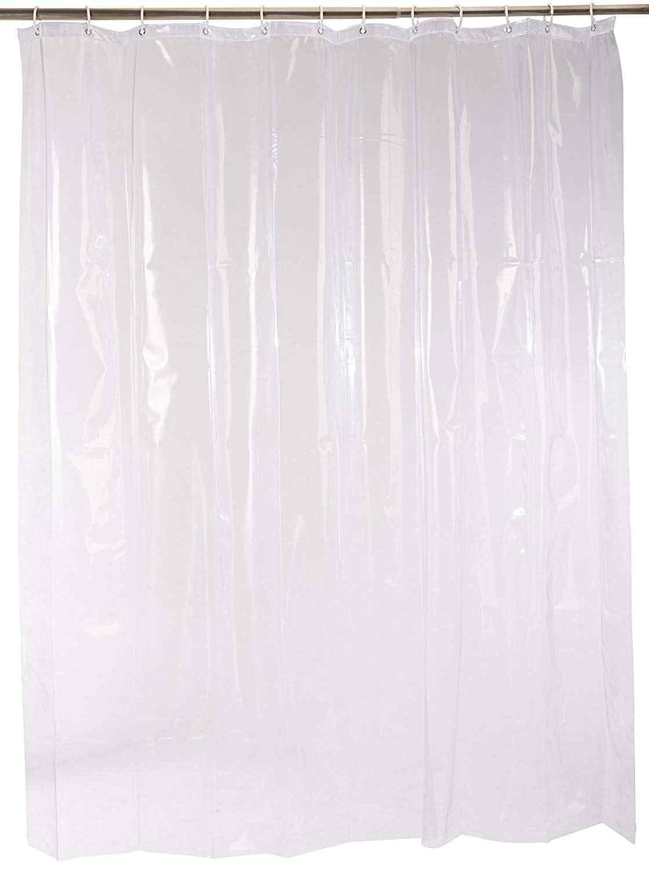 Simple Transparent Shower Curtain Peva Endless Apple Striped