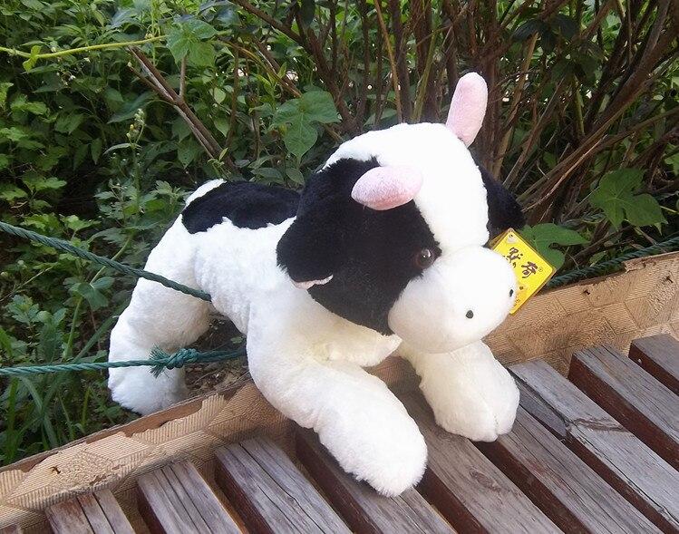 Gros jouet de vache en peluche mignon belle haute qualité dessin animé vache poupée cadeau environ 40 cm