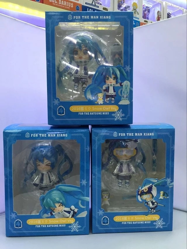Toys & Hobbies 3pcs/set Ski Hatsune Miku Q Version Anime Collectible Action Figure Pvc Toys For Christmas Gift With Retail Box Free Shipping Modern Design