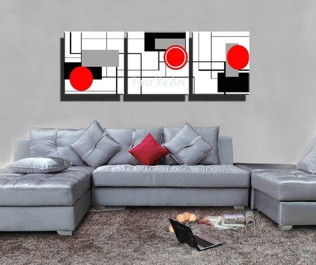 3 stück HD drucken günstige rot schwarz weiß moderne grafik abstrakt ...