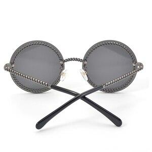 Image 3 - Fashion Women Rimless Sunglasse 2020Luxury Brand Designer Round Sunglasses Oculos De Sol Feminino with Original Packing Box