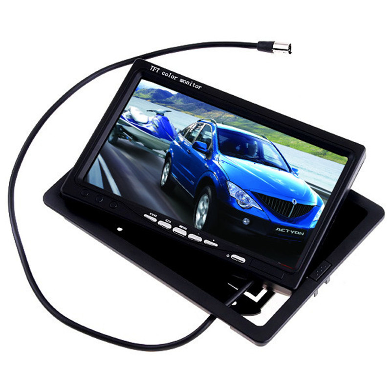 Hot 7 Inch TFT LCD Color Car Rear View Monitor DVD VCR for Reverse Backup Camera Truck Bus Parking Camera Monitor System 7 inch digital color hd tft lcd monitor screen 2 video input black for car rear view backup camera dvd vcr gps tv