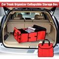 Tecido dobrável Caixa De Armazenamento De 3 Compartimentos Portátil Organizador Mala Do Carro Auto Suprimentos Carro de Volta Caixa de Armazenamento de Dobramento Multi-Uso ferramenta