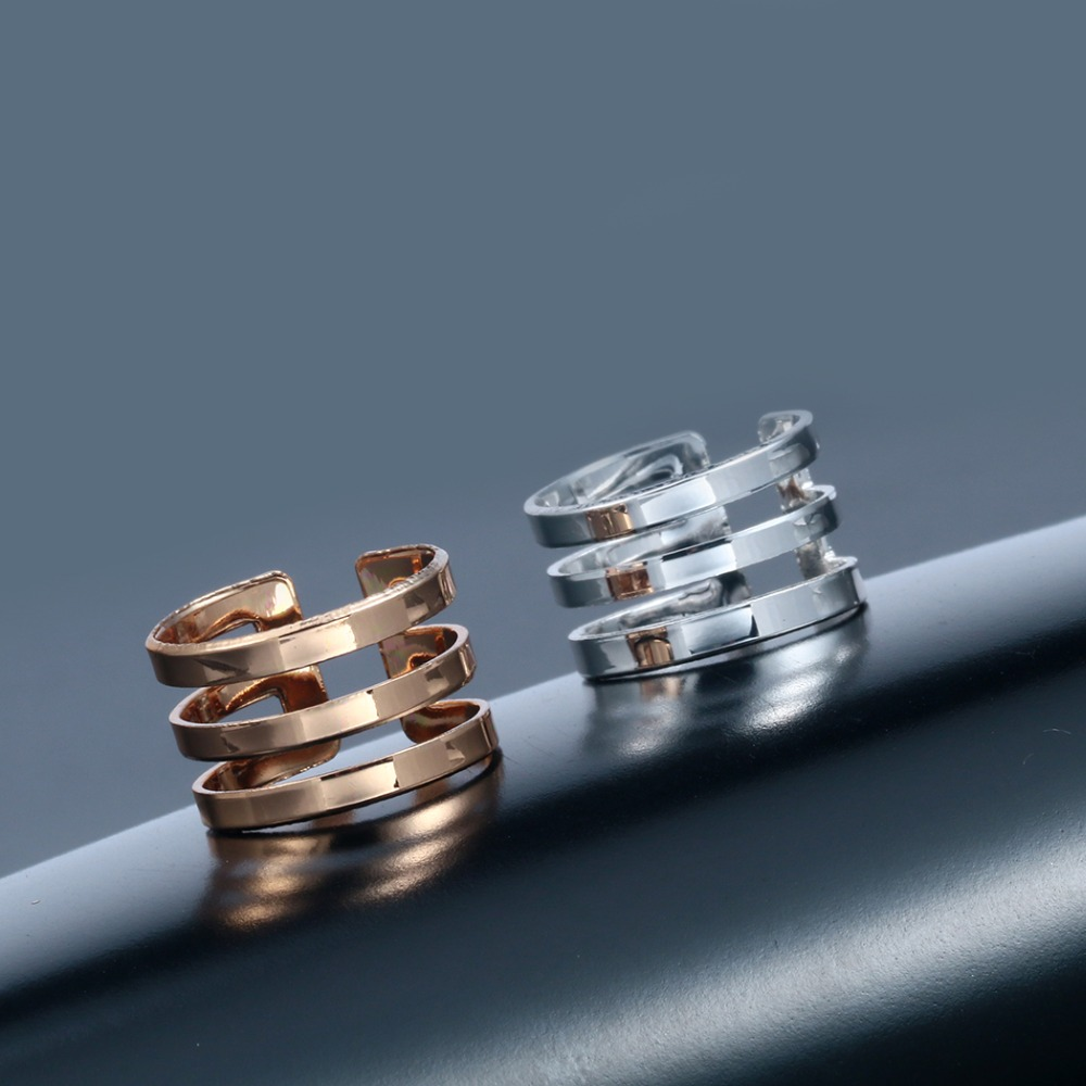 Fashion Rings For Women Three Lines Trendy Personalized Wedding Ring Women Party Jewelry Wholesale