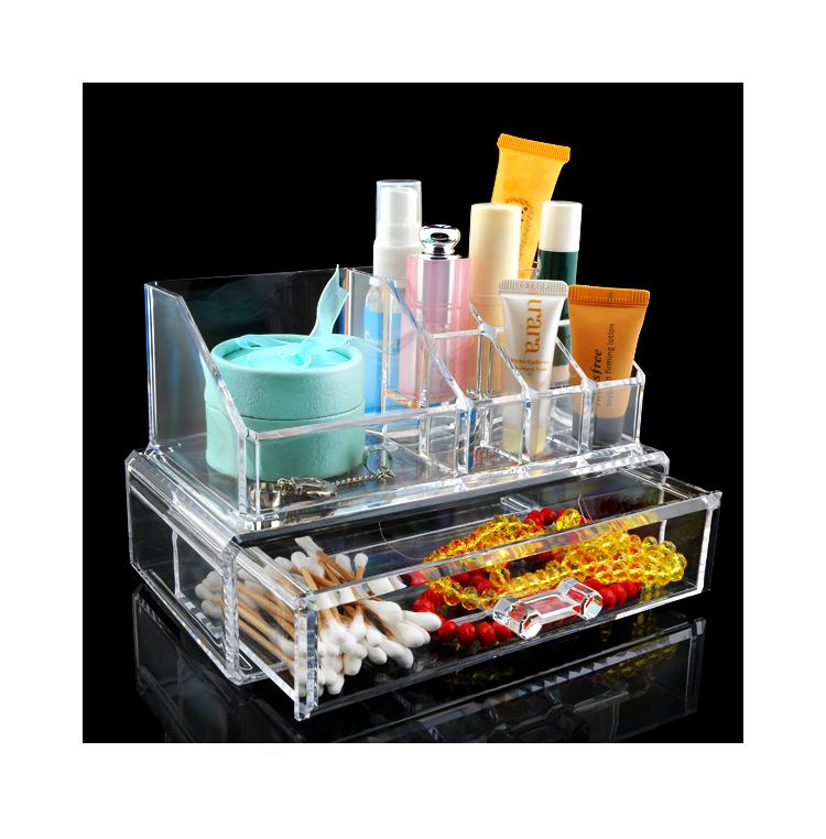 wituse cheap hot acrylic clear cosmetic organizer make up case lipstick brush holder drawer in. Black Bedroom Furniture Sets. Home Design Ideas