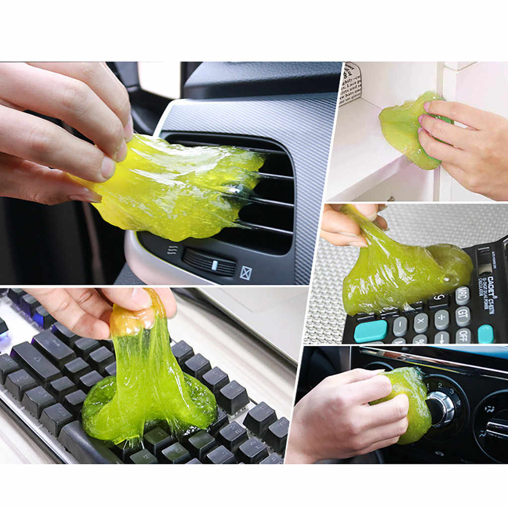 Magic Soft Sticky Clean Glue Gum Silica Gel Car Keyboard Dust Dirt Cleaner Cute Used For Many Times For Computer Keyboards CA
