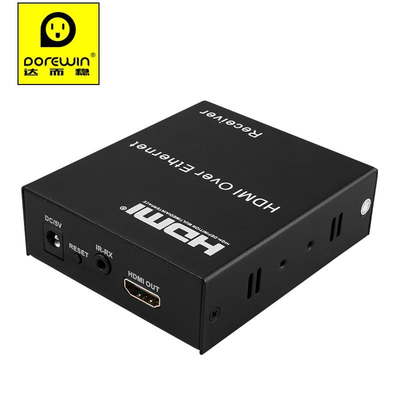 Dorewin локальных сетей HDMI 1080р расширитель передатчик приемник передатчик/приемник 30м/60м/120М cat6 кабель RJ45 сети Ethernet кабель для HDTV ПК проектор