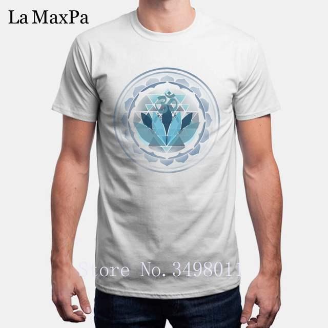 434f86ad4 Funny Buddhist Lotus Yogas Sanskrit Om T-Shirt For Men Cool Cotton Tshirt  Mens Clothing