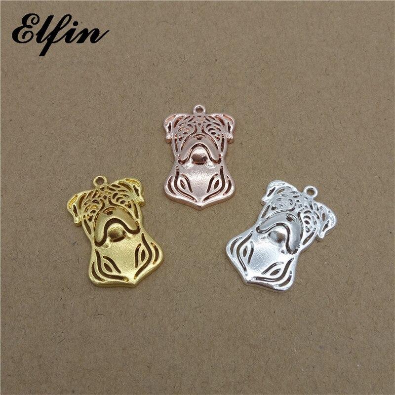 Elfin Wholesale American Bulldog Pendants Animal Fashion Pet Dog Jewelry American Bulldog Women Pendant Best Gift For Friend