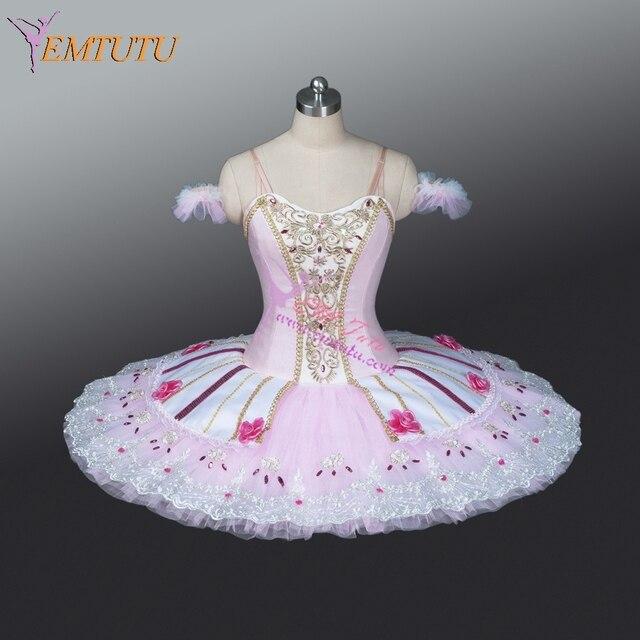 Nutcracker Professional Ballet Tutus Pink Adult Sugar Plum Fairy Performance Tutu Sleeping Beauty Classical Ballet Stage & Nutcracker Professional Ballet Tutus Pink Adult Sugar Plum Fairy ...
