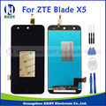 Черный 100% Новый Первоначально Для ZTE Blade X5 D3 T630 ЖК-Дисплей + Touch Screen Digitizer Сборка Замена Части + Инструменты