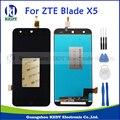 Negro 100% nuevo original para zte blade x5 d3 t630 lcd display + touch screen digitalizador asamblea piezas de repuesto + herramientas