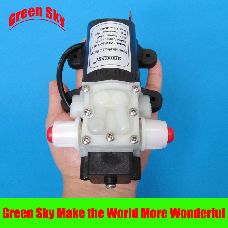 New Arrival max pressure 145PSI 4L/Min 12V DC 45W mist fog spray maker high pressure misting pump 1l min 12v dc 15w 1mpa high pressure pump mist fog spray maker electric sprayer diaphragm pump
