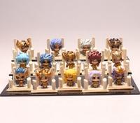 14pcs/set Saint Seiya The Gold Zodiac mini Action Figure PVC Collection figures toys for christmas gift brinquedos