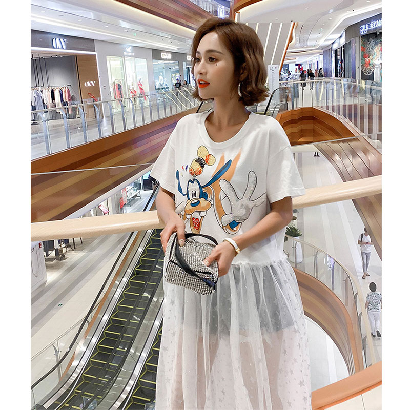 2019 Summer gauze long dresses fashion women beading sequins patchwork dresses in Dresses from Women 39 s Clothing