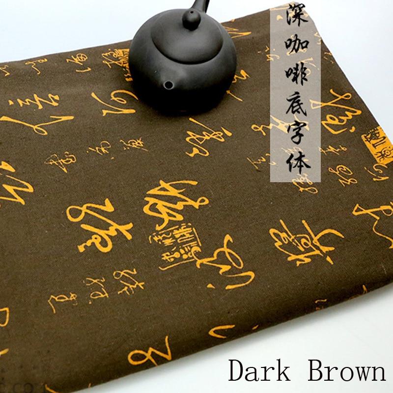 Estilo chino Tinta Líquido Estampado de tela Cortina Paño de tabla - Artes, artesanía y costura - foto 4
