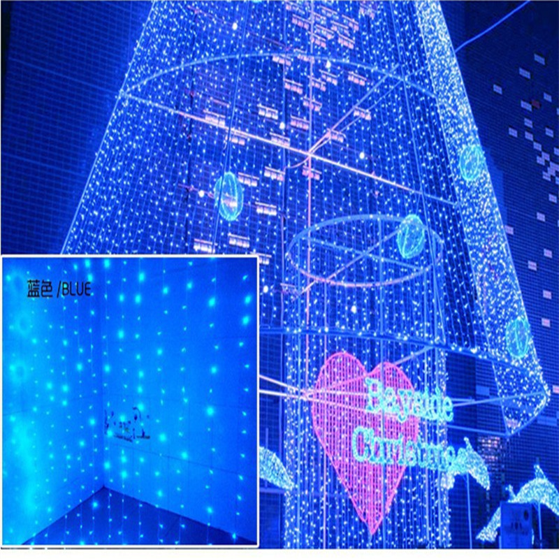 6*3 m LED curtain lights lighting New Year Christmas garland Decoration fairy wedding party garden Home indoor outdoor luminaria new year 100m 500led ball light led string light frost fogging wedding christmas holiday party festival decoration fairy outdoor